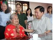 胡志明市市委书记丁罗升赴古芝县调研指导工作