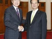 越南政府总理阮晋勇会见世行行长金墉
