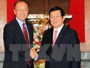 越南国家主席张晋创会见世行行长金墉