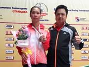 Strandja拳击国际竞赛越南运动员何氏玲夺银