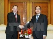 越南祖国阵线中央委员会主席阮善仁会见德国客人