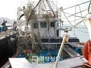 韩国失事渔船上发现一具越南船员尸体