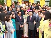 越南国家主席张晋创接见胡志明市古之县政府代表团