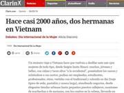 阿根廷媒体称赞越南妇女形象