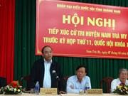 越南政府副总理阮春福接触广南省选民