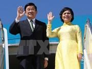 越南国家主席张晋创启程对坦桑尼亚、莫桑比克和伊朗进行国事访问