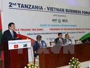 国家主席张晋创出席越南与坦桑尼亚企业论坛