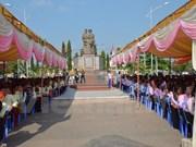 柬埔寨贡布省柬越烈士纪念碑正式落成