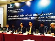 《2016世界发展报告:数字红利》在河内发布