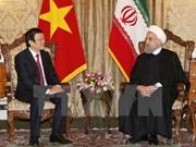 越南国家主席张晋创与伊朗总统哈桑·鲁哈尼举行会谈