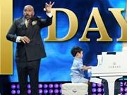 美籍越裔钢琴神童在美国电视上亮相