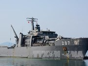 新加坡军舰访问越南金兰国际港