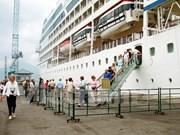 2016年真云港接待游轮可达46艘次