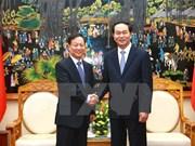 越南公安部长陈大光大将会见中国公安部副部长孟庆丰一行