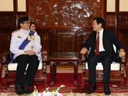 越南国家主席张晋创接受四国新任驻越大使递交国书