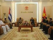杜伯巳大将会见古巴革命武装力量部部长特使
