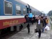 五一国际劳动节期间越南河内铁路运输股份公司的火车票打五折