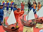 李山岛县举行黄沙戍边军犒军仪式