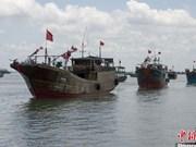 越南广平省处理侵犯越南领海主权的6艘中国渔船