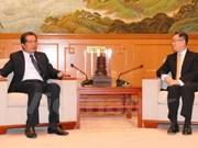 越南驻中国大使邓明魁拜会中国外交部驻香港特派员宋哲