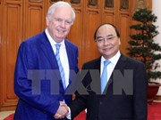 阮春福总理会见美国哈佛大学教授托马斯•瓦列利
