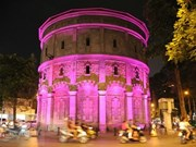荷兰援助河内豆街水塔点灯项目