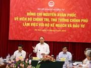 阮春福总理来到计划与投资部调研座谈