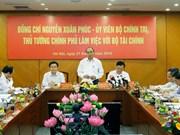 越南政府总理阮春福来到财政部调研座谈