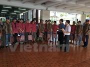 越南驻印尼大使馆继续把被印尼扣留的越南渔民送回国