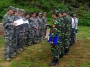 谭水边防屯与中国龙州地区边防部队会谈会晤站举行会谈
