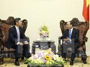 越南政府总理阮春福会见日本三井住友银行领导人