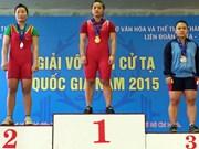 亚洲举重锦标赛:越南举重女运动员阮氏雪梅获得两枚铜牌