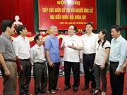 越南河内市委书记黄忠海会见河内市选民