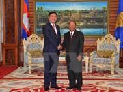 柬埔寨国会与政府领导人会见胡志明市市委书记丁罗升