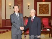 越共中央总书记阮富仲会见朝鲜劳动党高级代表团