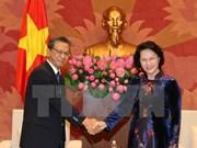 越南国会主席阮氏金银会见日本驻越大使大岛浩