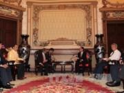 胡志明市领导会见老挝科学技术部部长