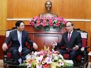 越南祖国阵线中央会员会主席会见中国驻越大使