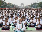 越南参加在印度举行的国际瑜伽日