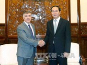 越南国家主席陈大光会见阿根廷和缅甸驻越南大使