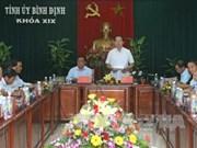 越南国家主席陈大光莅临平定省调研