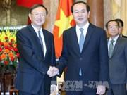 越南国家主席陈大光会见中国国务委员杨洁篪