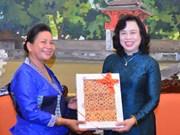 河内市与老挝首都万象妇女加强合作