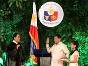 菲律宾新任总统杜特尔特宣誓就职