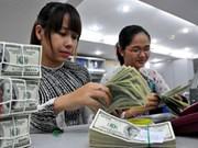越南国家银行越盾兑换美元中心汇率较前一日下跌8越盾