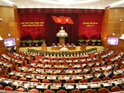 越共十二届三中全会第一天新闻公报
