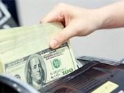 越盾兑换美元中心汇率较前一日上涨8越盾
