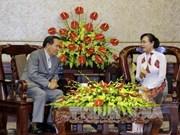 越南胡志明市同老挝万象市促进阵线工作交流