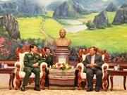 老挝领导人高度评价越老两国军队的合作结果
