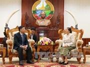 老挝国会主席巴妮·雅陶都高度评价越南国会所提供的帮助